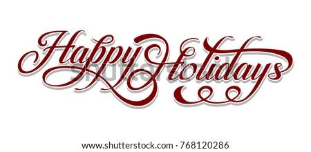 Happy Holidays text
