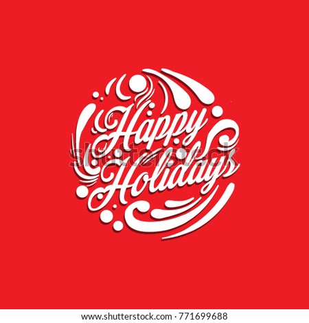 Happy Holidays Typography