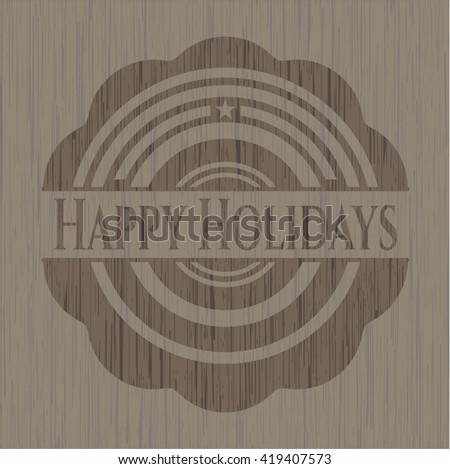 Happy Holidays wood signboards