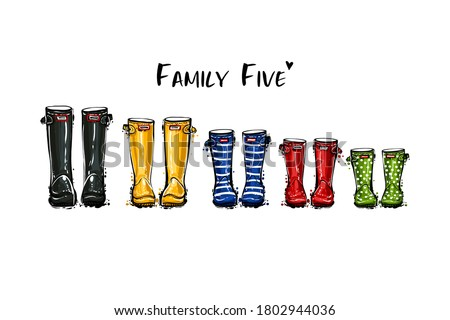 happy home family five concept
