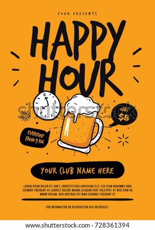 Happy Hour Beer Poster