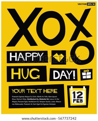 happy hug day 12 february xoxo