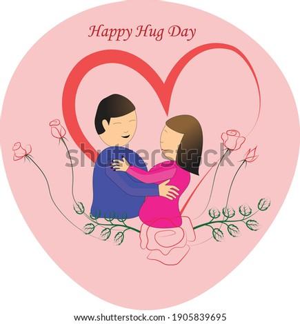 happy hug day posters