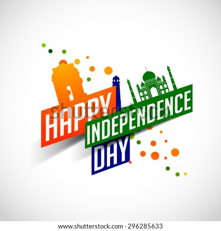 Happy independence day india vector illustration flyer for 15th august independence day decoration ideas