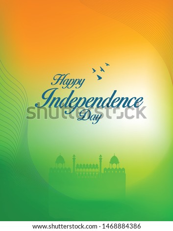 Happy Independence Day of India - Vector