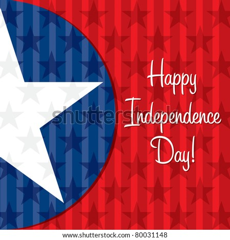 Happy Independence Day star card in vector format.