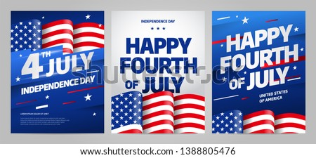 Happy independence day 4 th july, United states of america day. Layout design template for independence day.