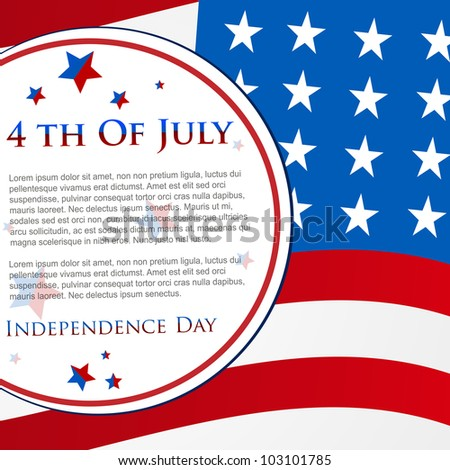 Happy Independence Day 4th of July abstract American flag  background and cards in vector format, EPS 10.  Can be use as banner, poster and flyer.