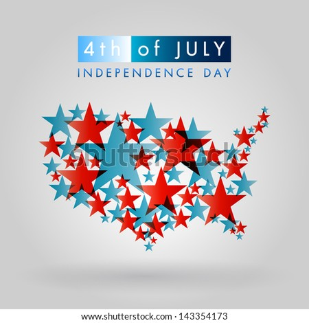 Happy independence day United States of America, 4th of July ストックフォト ©