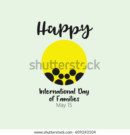 Happy International Day of Families Logo Vector Template