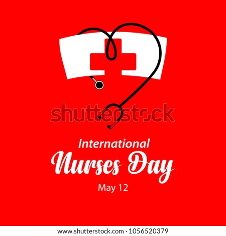 Happy International Nurses Day Vector Template Design