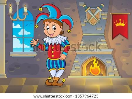 Happy jester theme image 2 - eps10 vector illustration.