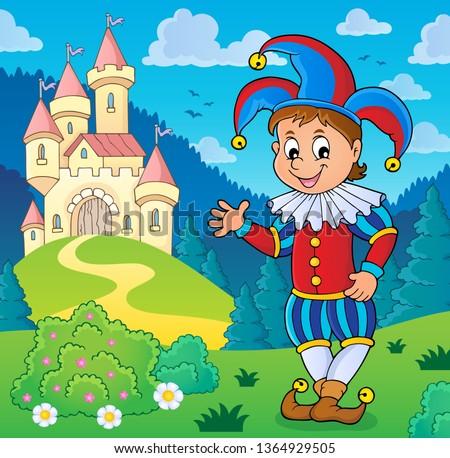 Happy jester theme image 3 - eps10 vector illustration.