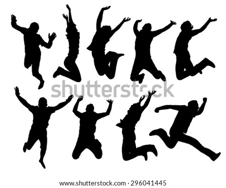 stock-vector-happy-jumping-people-silhouettes-black-and-white-vector-collection