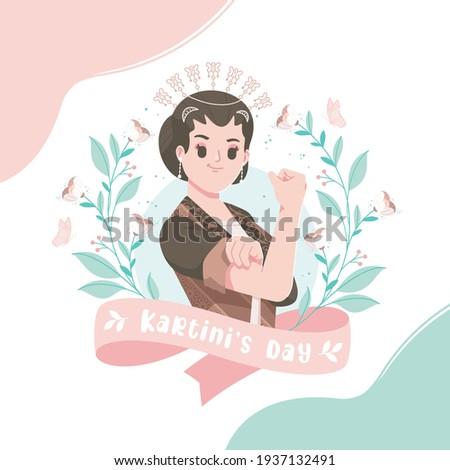 Happy Kartini Day Celebration. Indonesian Modern Women Empowerment