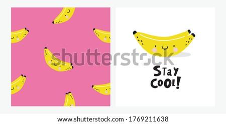 happy kawaii banana summer