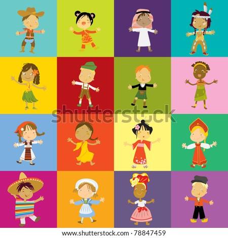 happy kids diversity of