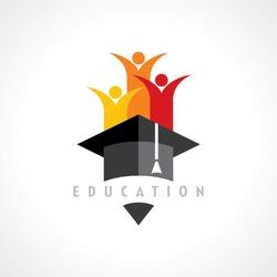 Happy kids, Education concept vector