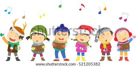 happy kids singing christmas