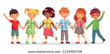 happy kids team multinational