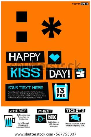happy kiss day 13 february