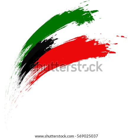 Happy Kuwait National Day, Vector Illustration based on Grungy Flag design.