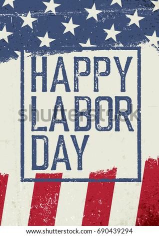 happy labor day. on grunge...