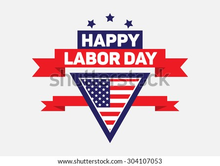 Happy labor day sign and banner.