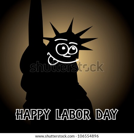 happy labor day theme- illustration