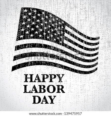 happy labor day us flag - illustration