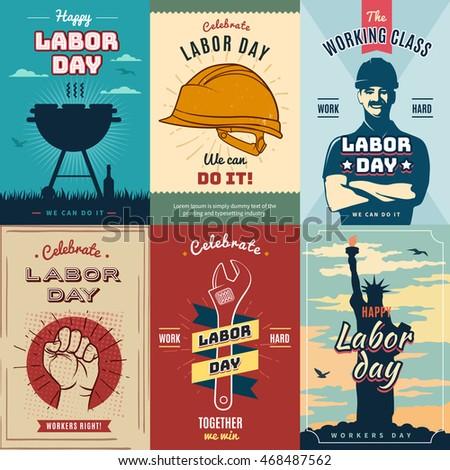 happy labor usa day. creative...