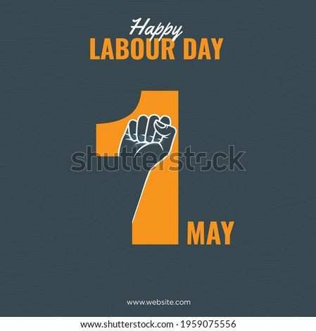 Happy Labour Day 2021. 1st May. Thank you for your Hard Work. International Labour Day Vector Art