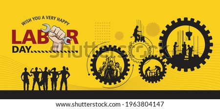 Happy Labour Day 1st May. Thank you for your Hard Work. International Labour Day Vector Art