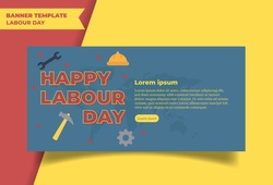 Happy Labour Day Template Background Vector illustration