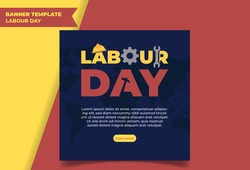 Happy Labour Day typography creative artwork.