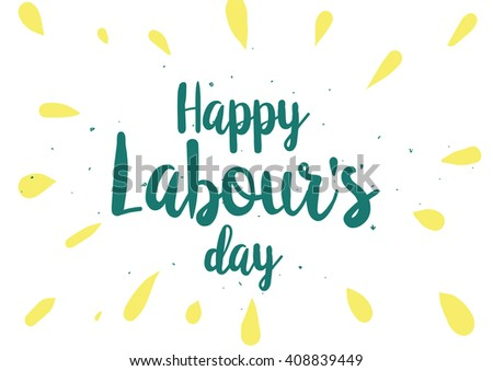 Labor day retro style background download free vector art stock happy labours day inscription greeting card with calligraphy hand drawn lettering quote design m4hsunfo