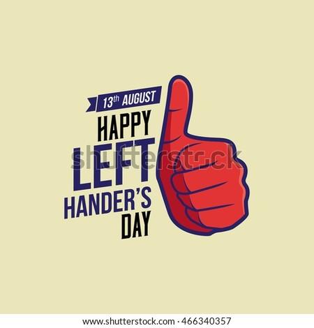 Happy Left-handers Day. Vector Illustration