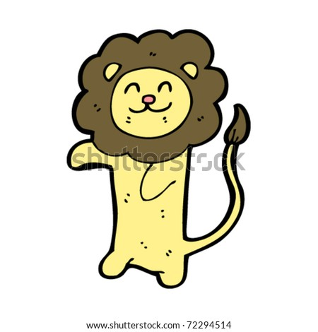 Lion Cartoon Character on Happy Lion Cartoon Stock Vector 72294514   Shutterstock