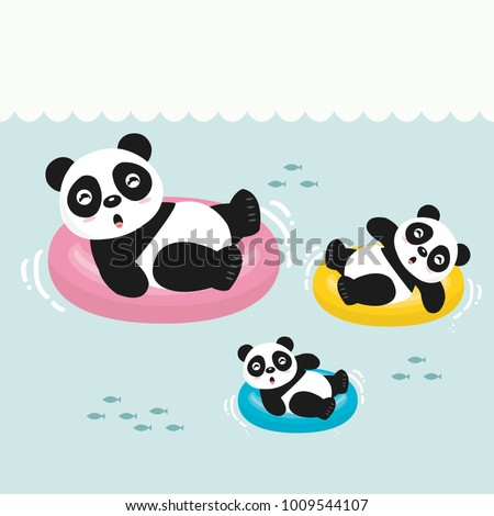 happy little cute panda in
