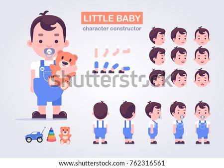 happy little kid character with