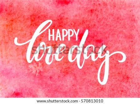 happy love day hand drawn