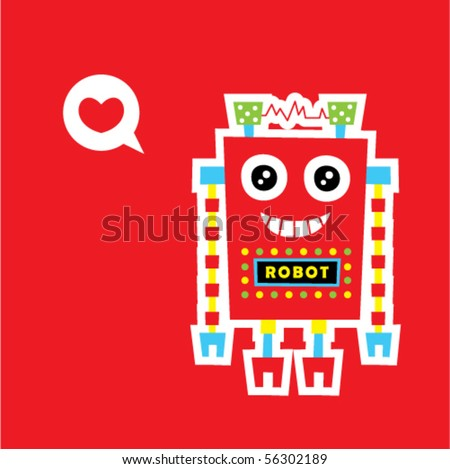 happy love robot