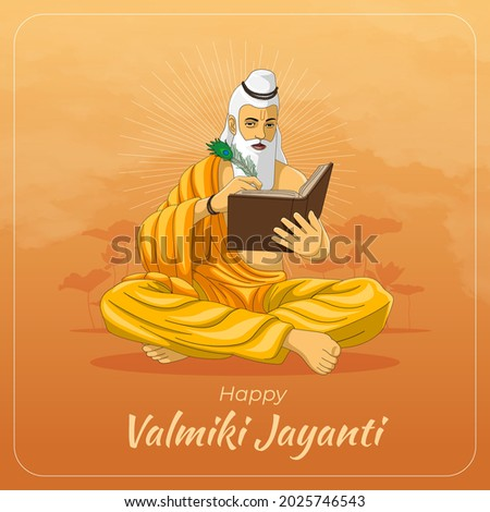 Happy Maharishi Valmiki Jayanti Greetings Card