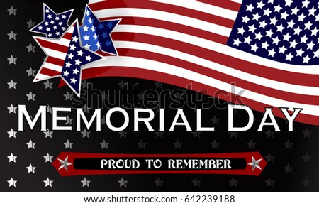 Happy Memorial Day Background Template. Stars And American Flag. Patriotic  Banner. Vector Illustration