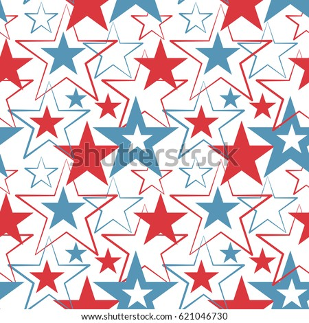 Happy memorial day USA, a national American holiday, seamless background, vector illustration