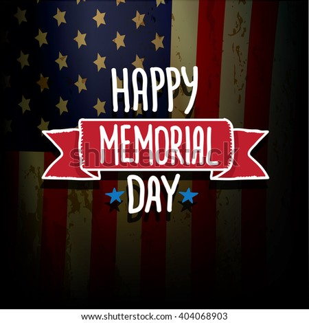 Happy Memorial Day vector background.  Memorial day greeting card #404068903