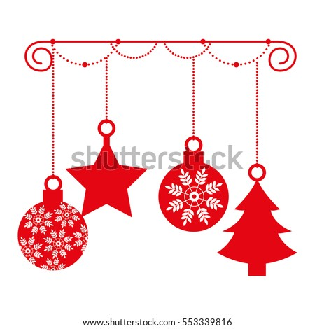 happy merry christmas balls card