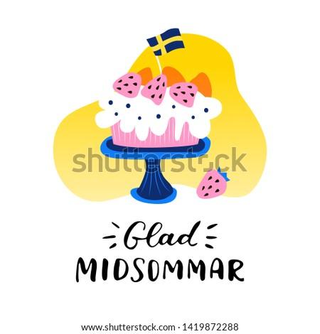 happy midsummer handwritten
