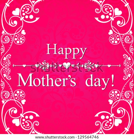 Happy mother day background. Vector  illustration