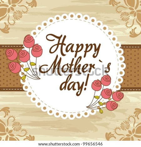 happy mother day cute background. vector illustration - stock vector